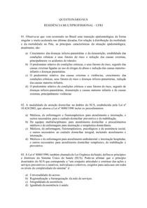 QUESTIONÁRIO SUS I - RESIDÊNCIA CTBMF
