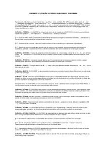 Modelo De Contrato De Locação De Imóvel Para Fins De Temporada
