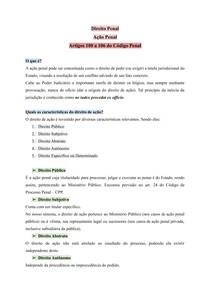 Direito Penal - Parte Geral - Ação Penal