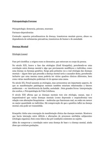 Psicopatologia Forense - Resumo
