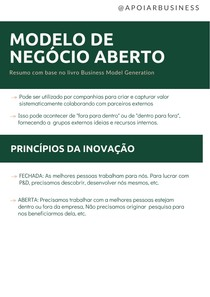 Resumo: MODELO DE NEGÓCIO ABERTO