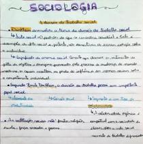 Sociologia - Divisão do trabalho social