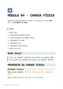 Resumo Módulo 4 - Camada Física CCNA v7_1 - Introdução às Redes