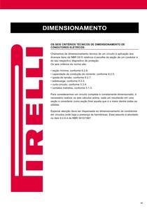 Dimensionamento Pirelli