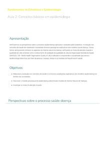 Conceitos básicos em epidemiologia