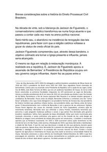 Breves considerações sobre a história do Direito Processual Civil Brasileiro