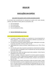EXECUÇÃO EM ESPÉCIE- AULA 5