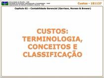 Capitulo 02 - Custos Terminologia Conceitos e Classficacao