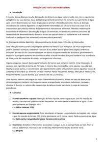 INFECÇÕES DO TRATO GASTROINTESTINAL