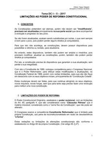 Tema 5 - Direito Constitucional II - Limitações ao poder de reforma