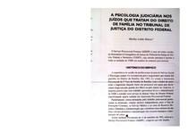 a psicologia judiciária nos juízos que tratam do direito de família no tribunal de justiça do distrito federal - marília lobão ribeiro