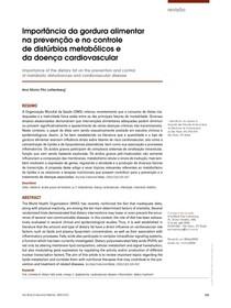 Importância da gordura alimentar na prevenção e no controle de distúrbios metabólicos e da doença cardiovascular