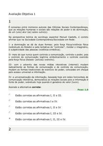 Avaliação Objetiva G1   SOCIEDADE E CONT.