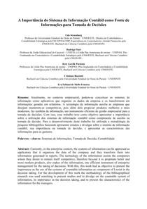 ART 5 - A Importncia do Sistema de Informao Contbil como Fonte de Informaes para Tomada de