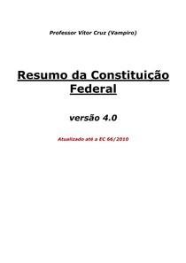 Resumo da Constituicao Federal Comentada