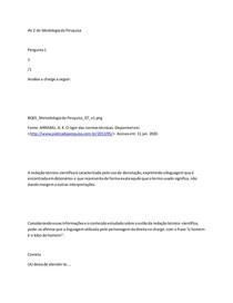 AV 2 Metodologia da pesquisa