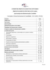 CPC 26 (R1)   Apresentação das Dem. Contábeis