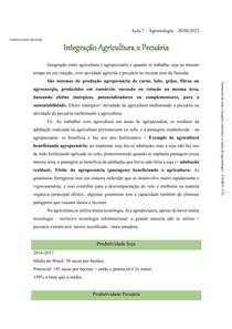 Integração Agricultura e Pecuária