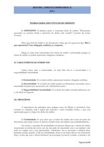 RESUMO - DIREITO EMPRESARIAL II