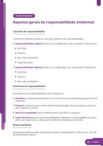Aspectos fundamentais de responsabilidade ambiental - Resumo
