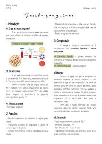 Histologia Tecido sanguíneo Resumo