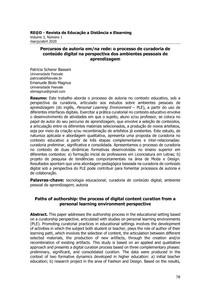 Percursos de autoria em/na rede: o processo de curadoria de conteúdo digital na perspectiva dos ambientes pessoais de aprendizagem