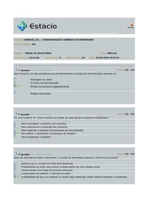 Prova de Administração AV1