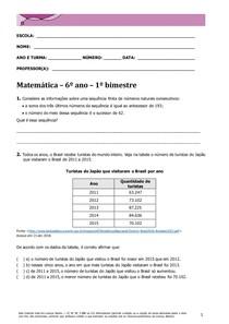 Matemática 6º ano 1º Bim