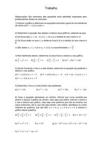 Cônicas - Lista resolvida - Renato da Silva Viana