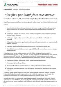 Infecções por Staphylococcus aureus