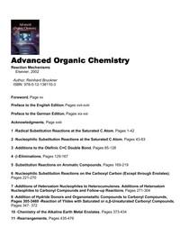 Bruckner-Advanced Organic Chemistry  Reaction Mechanisms - Bruckner
