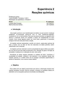 Relatorio I do pacotão exp.2