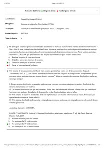Sistemas e Aplicações Distribuídas   Avaliação I