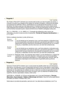 atividade METODOLOGIA E PRÁTICA DE ENSINO DE MATEMÁTICA un 2