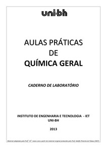 Apostila de Química Geral (2013 )