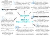 Mapa mental: Probióticos e prebióticos