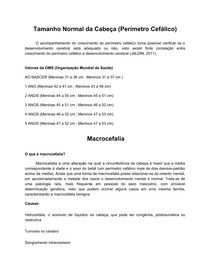 Macro Micro e Hidrocefalia