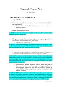 Resumo EXECUÇÃO CONTRA A FAZENDA PÚBLICA