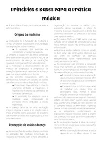 Princípios e bases para a prática médica