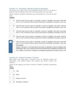 Auditoria Contabil e Tributaria APOL 3