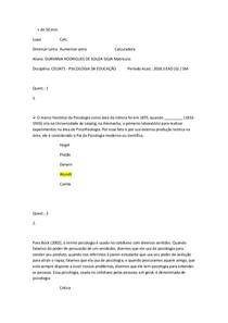 AVP PSICOLOGIA DA EDUCAÇÃO