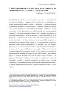 A soberania patriarcal artigo Vera Andrade