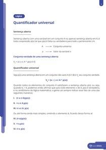 Quantificador universal - Resumo