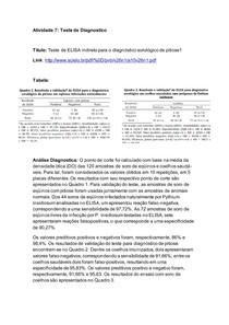 Bioestatistica: teste diagnostico