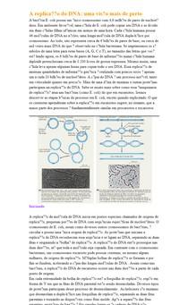 A replicação do DNA: uma visão mais de perto