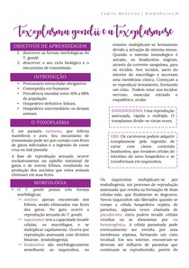 Toxoplasma gondii e a toxoplasmose (Ciclos, Morfologia, Toxoplasma) - Parasitologia