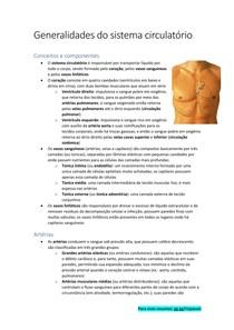 Introdução ao sistema circulatório