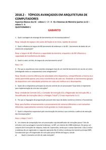 GABARITO TOP AV ARQ  2018 2 Questionário 1 sobre videos 1 2 3 4 (Aspectos Basicos dos SC) e   5 6 (Sist Mem)