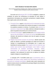 Nota Técnica Nº 001 2021 CRP-18