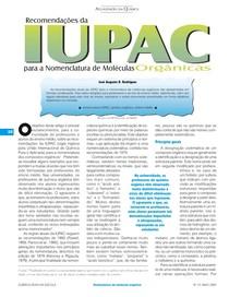 Artigo química nova escola - normas IUPAC